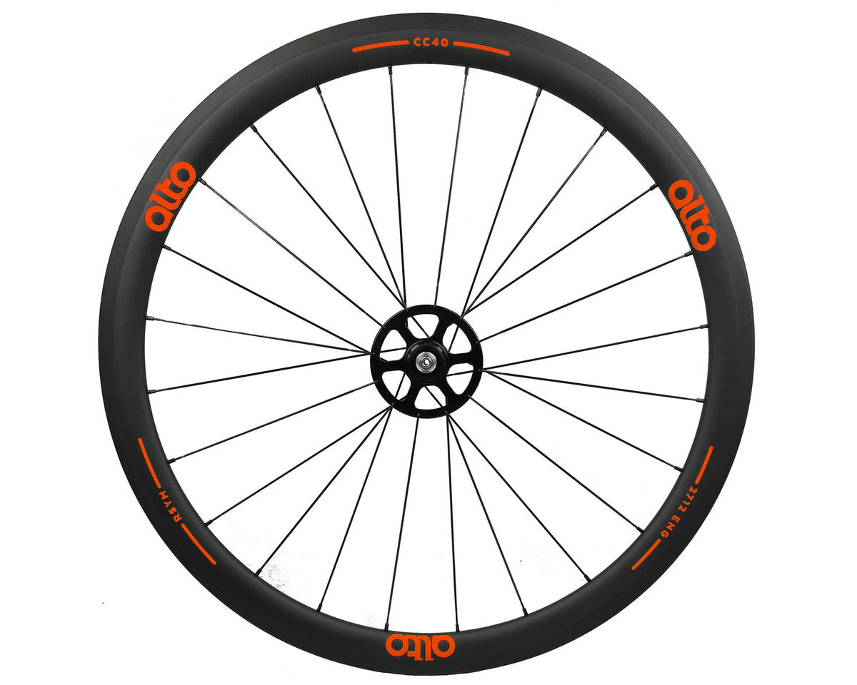 Alto Wheels CT40 Carbon Rear Road Tubular Wheel (Orange)