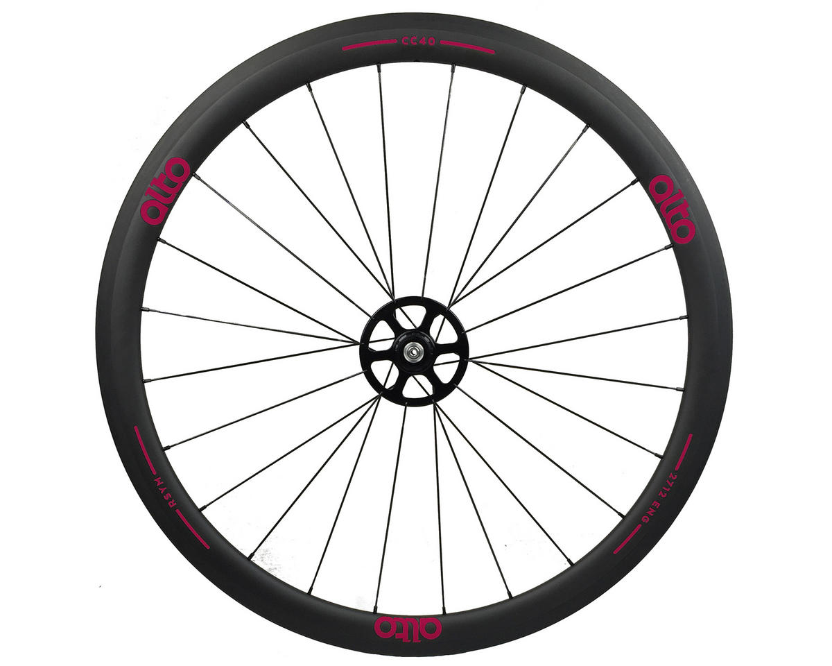 Alto Wheels CT40 Carbon Rear Road Tubular Wheel (Pink)