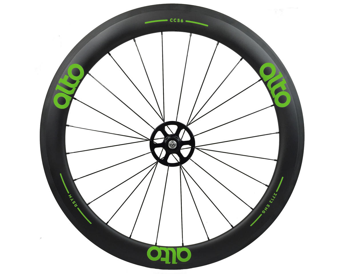 Alto Wheels CT56 Carbon Rear Road Tubular Wheel (Green)