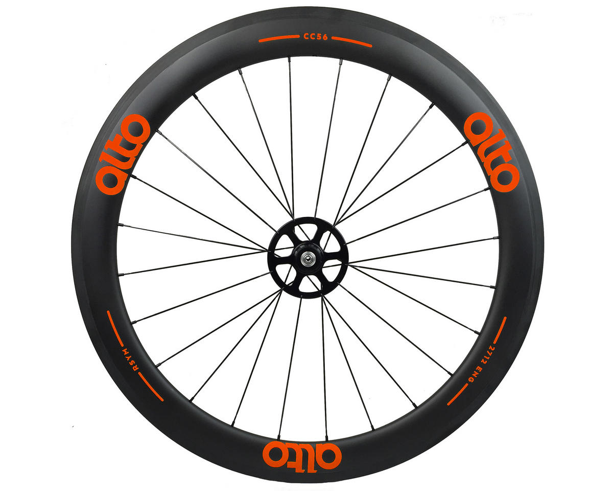 Alto Wheels CT56 Carbon Rear Road Tubular Wheel (Orange)
