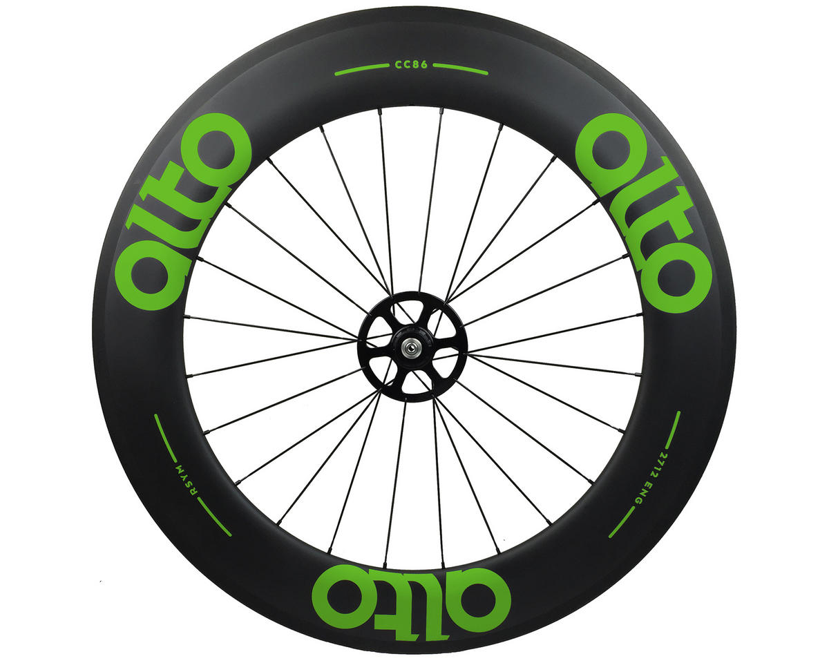 Alto Wheels CT86 Carbon Rear Road Tubular Wheel (Green)