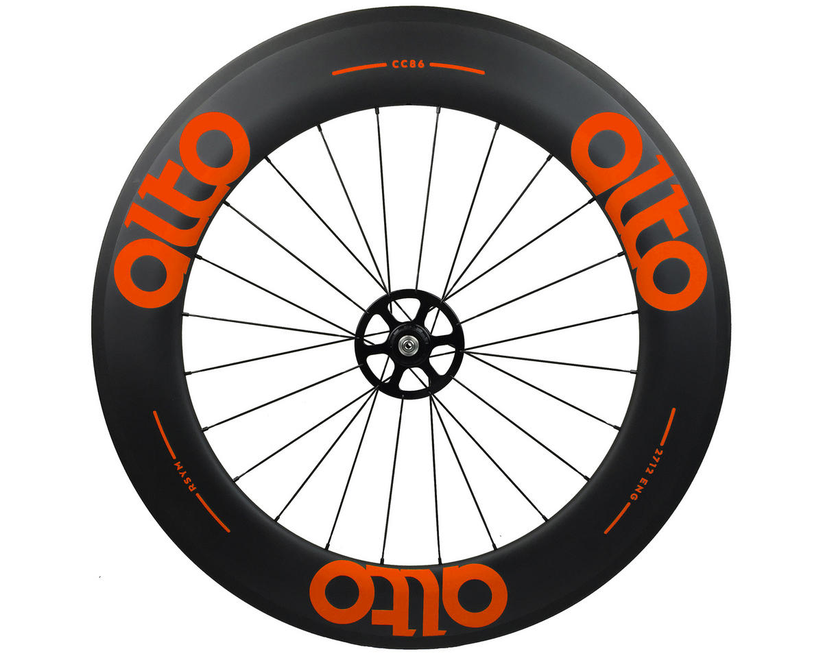 Alto Wheels CT86 Carbon Rear Road Tubular Wheel (Orange)