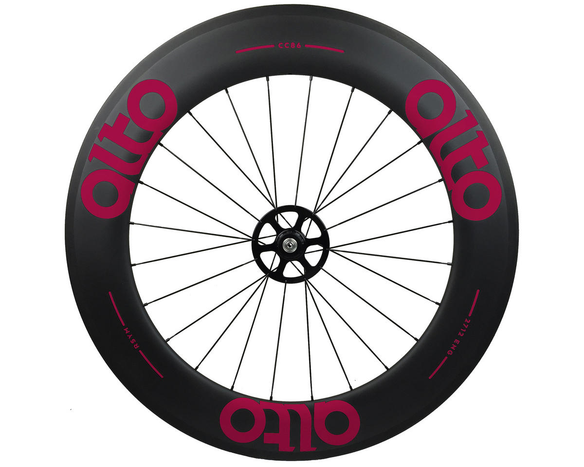 Alto Wheels CT86 Carbon Rear Road Tubular Wheel (Pink)