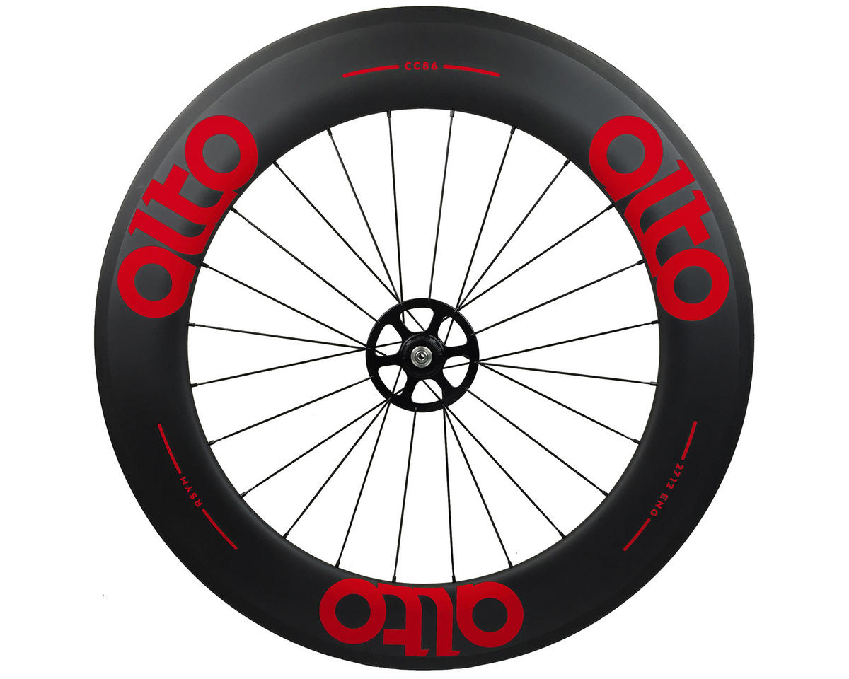Alto Wheels CT86 Carbon Rear Road Tubular Wheel (Red)