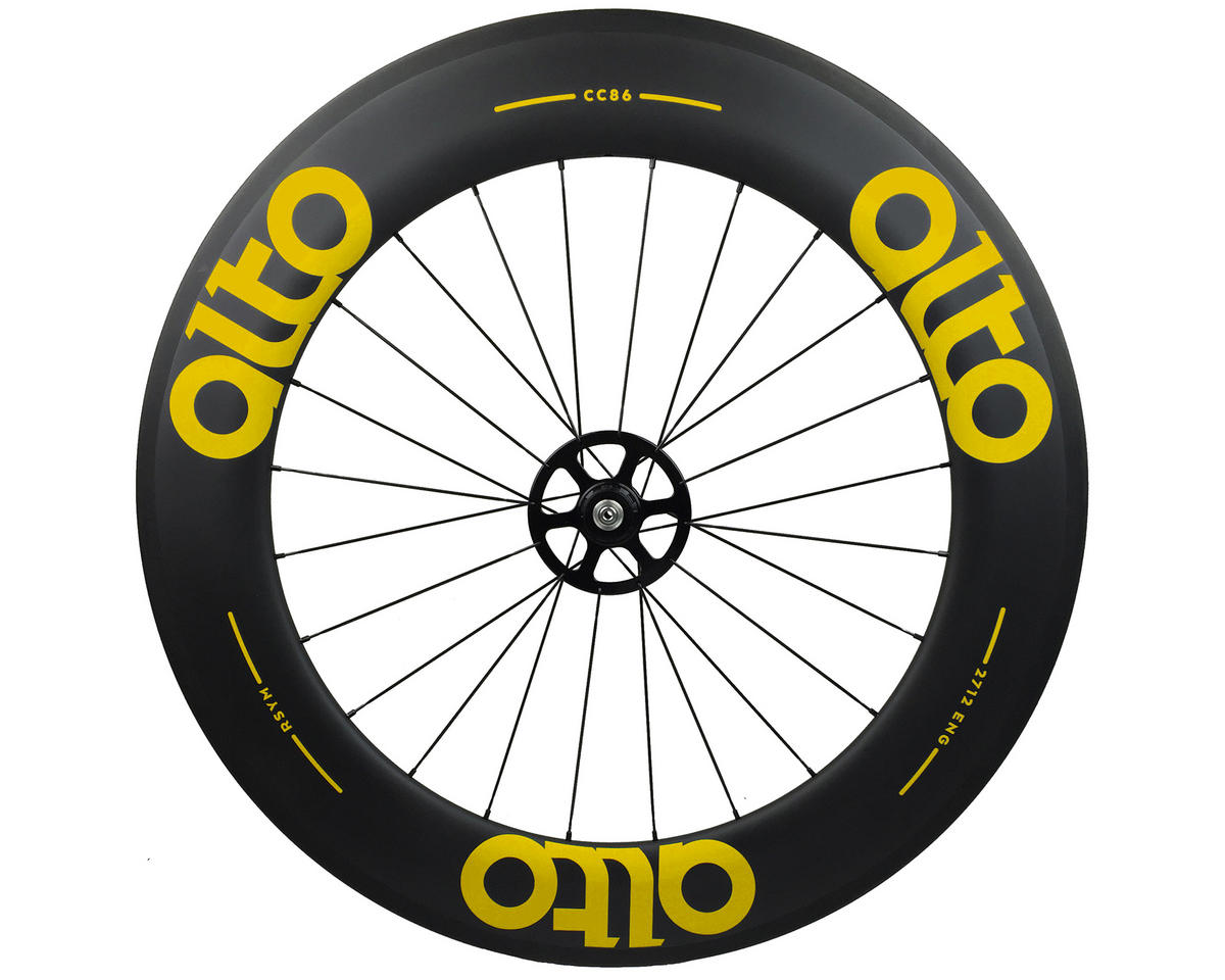 Alto Wheels CT86 Carbon Rear Road Tubular Wheel (Yellow)