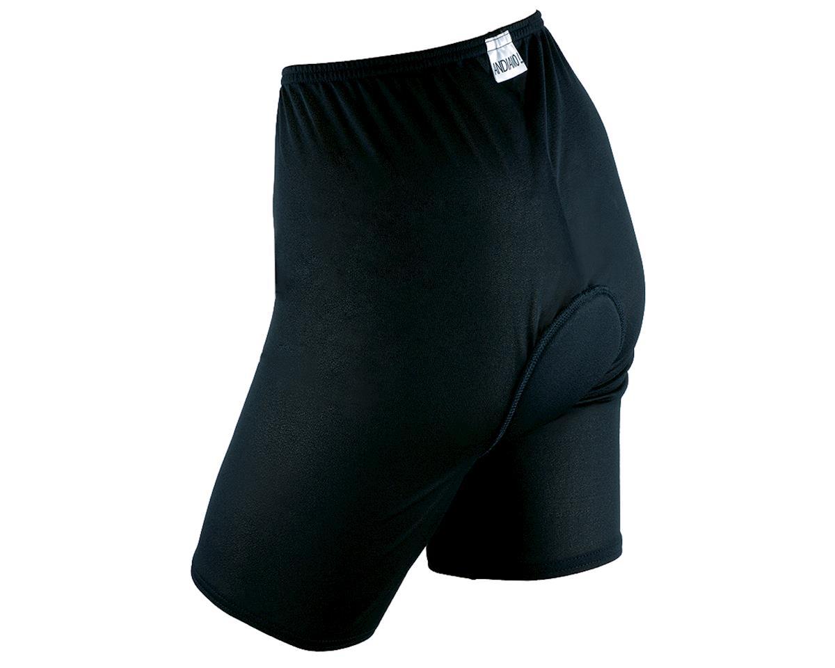Andiamo Women's Padded Skins Short Liner (Black) (XL)