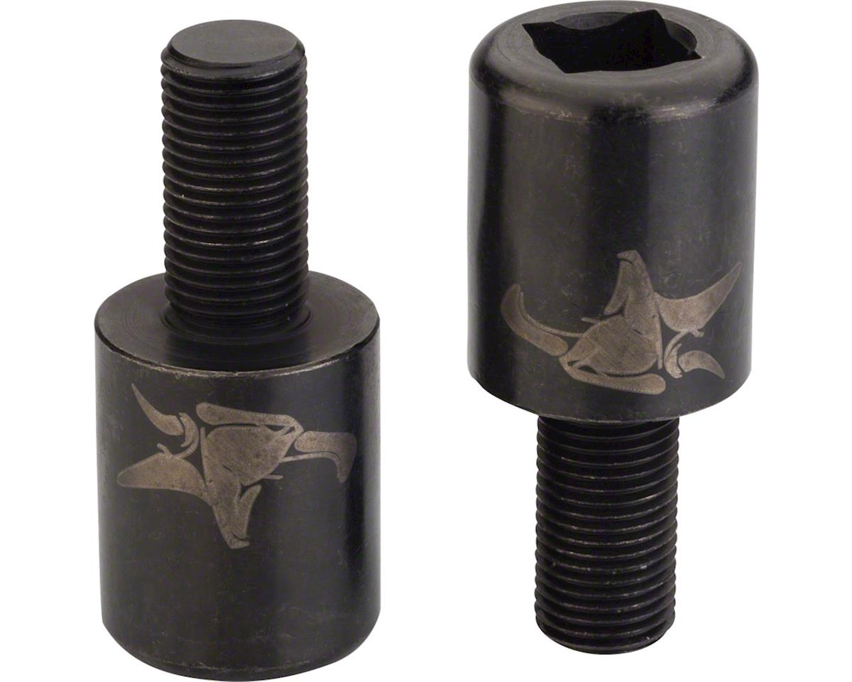 Animal Silva Nub Nuts Pegless Axle Nuts 10mm, M10x125 Black