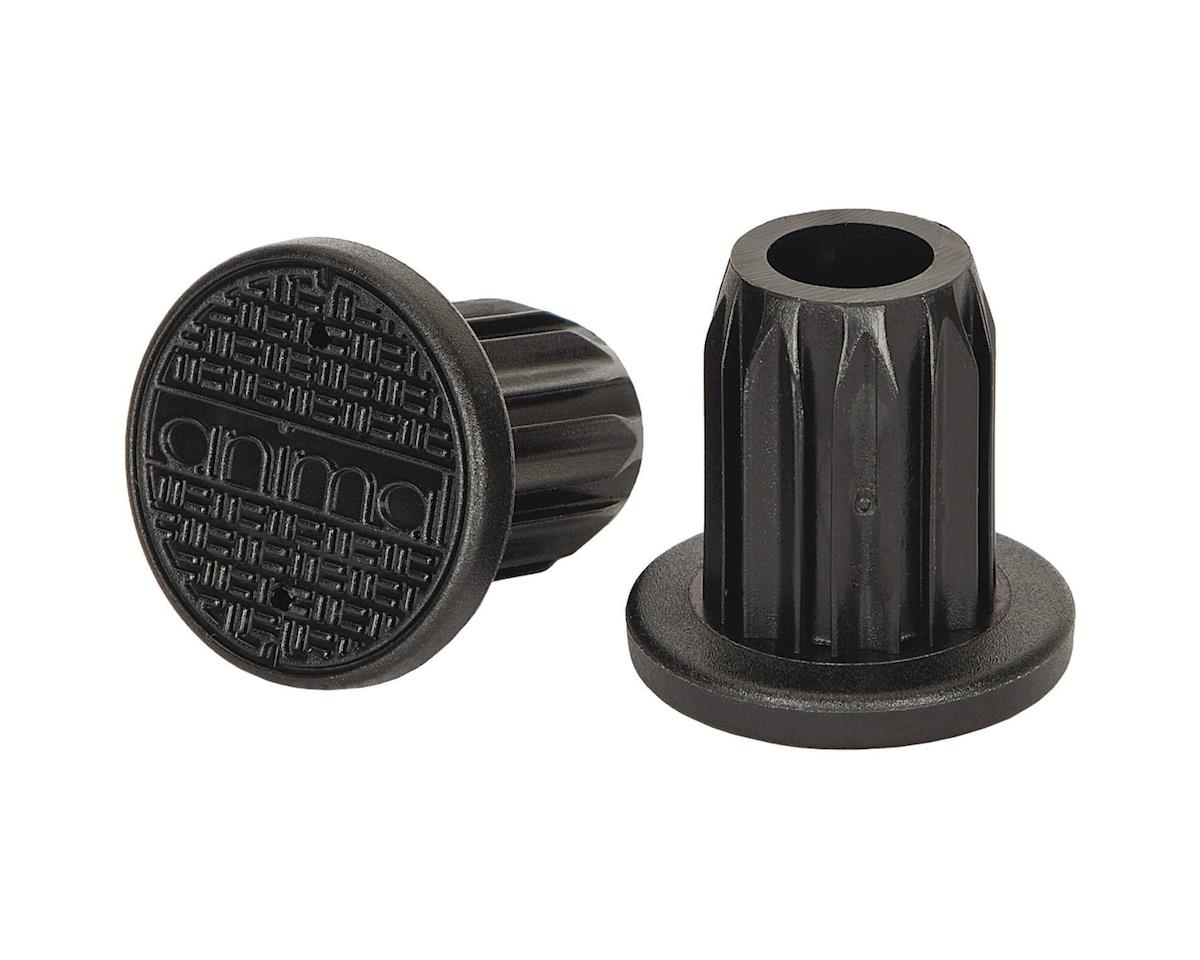 Animal Sewer Cap PC Bar Ends Pair Black
