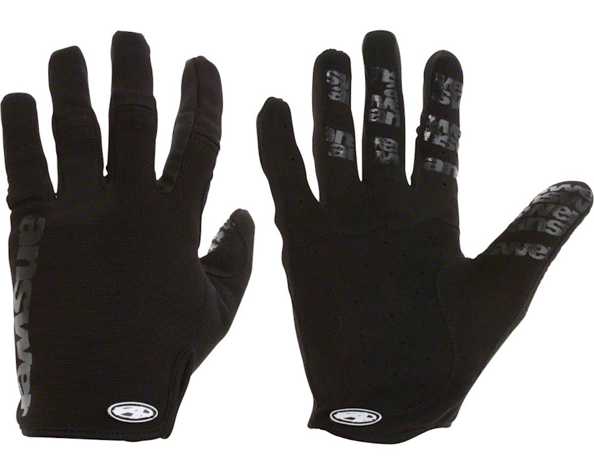 Answer Won Full Finger Glove: Black XL