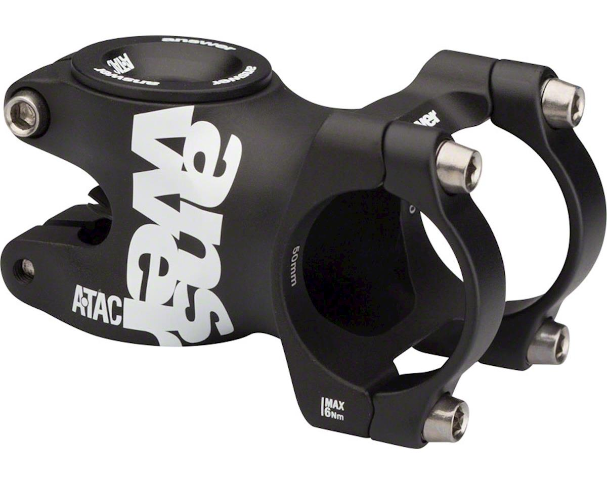 Answer ATAC AME 31.8 Stem 30mm +/- 0 Degree, Black