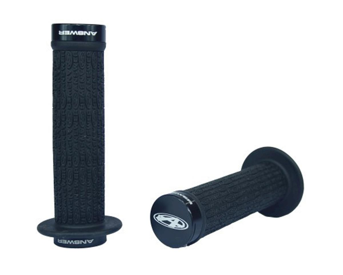 Answer Pro Lock-On Grips (Black/Black) (Locking) (Flanged) (134mm)