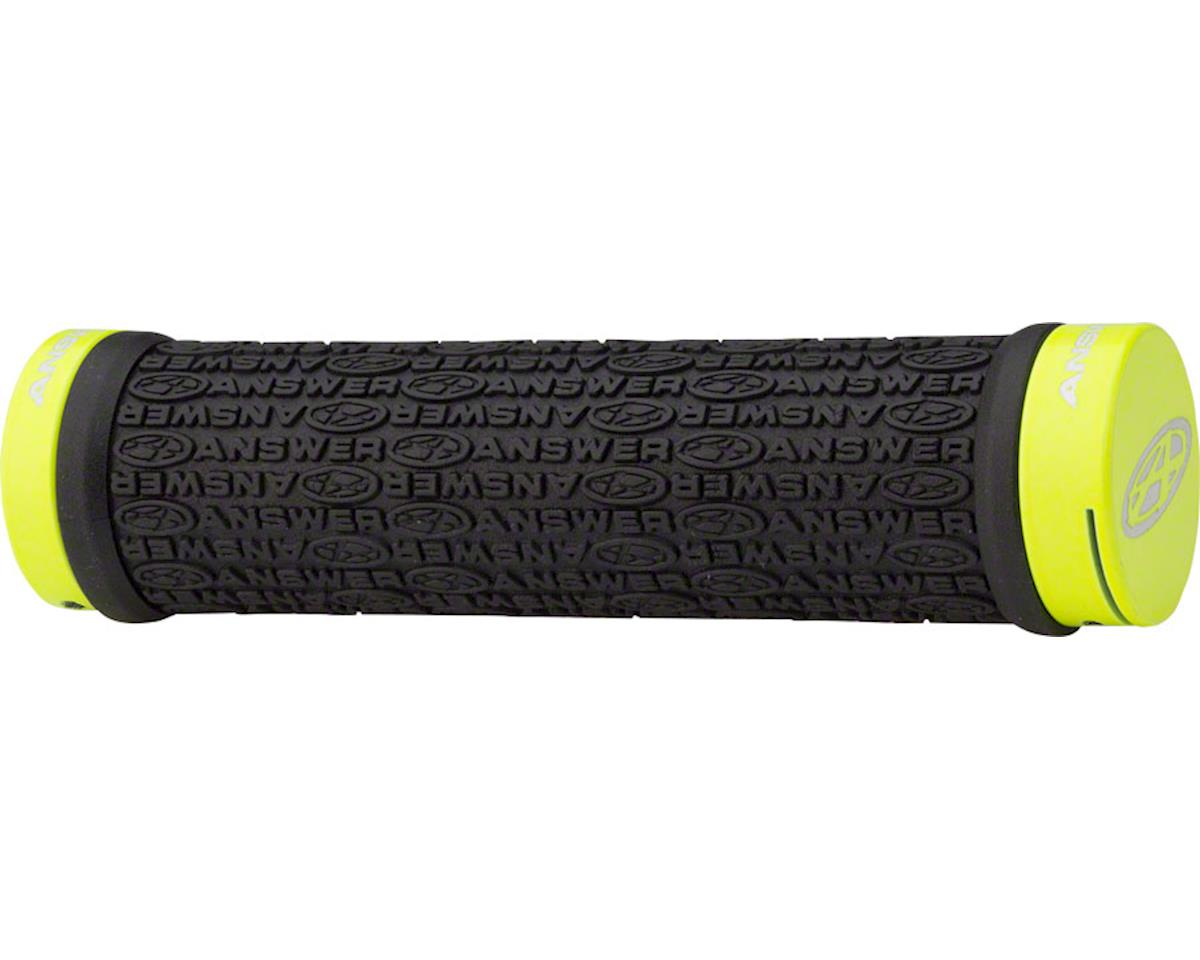 Answer BMX Flangeless Grips (Flourescent Yellow)