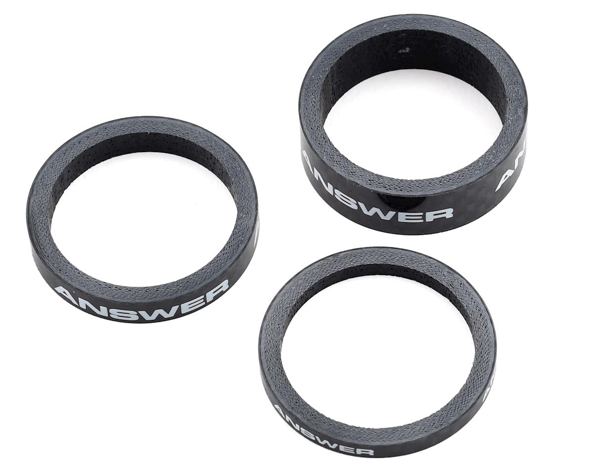 "Answer Carbon Spacer (Black) (3 Pack) (1-1/8"")"