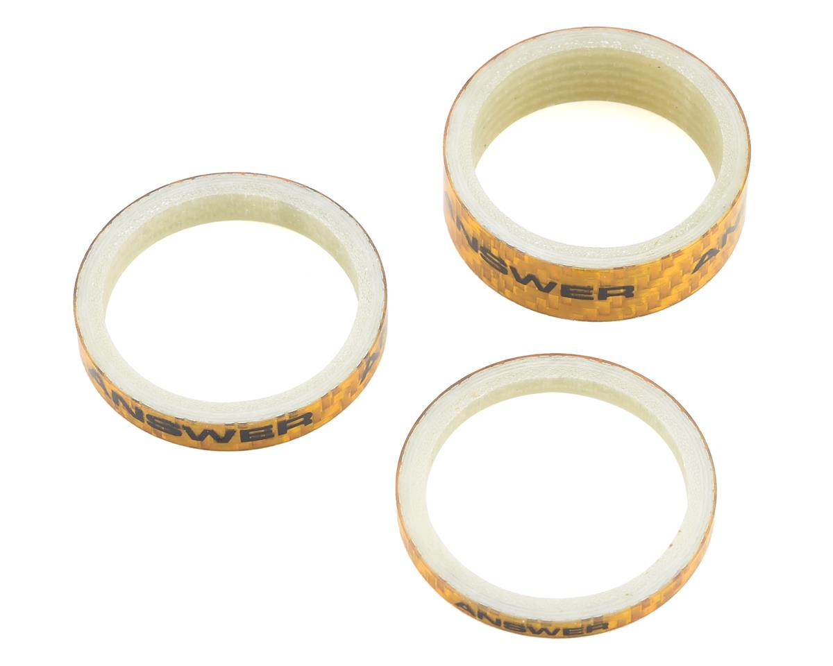 "Answer Carbon Spacer (Gold) (3 Pack) (1-1/8"")"