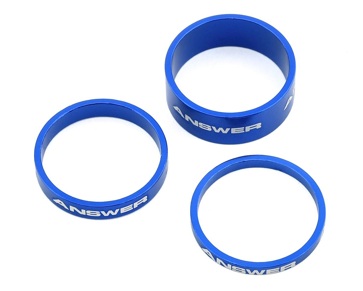 "Answer Alloy Spacer (Blue) (3 Pack) (1"")"