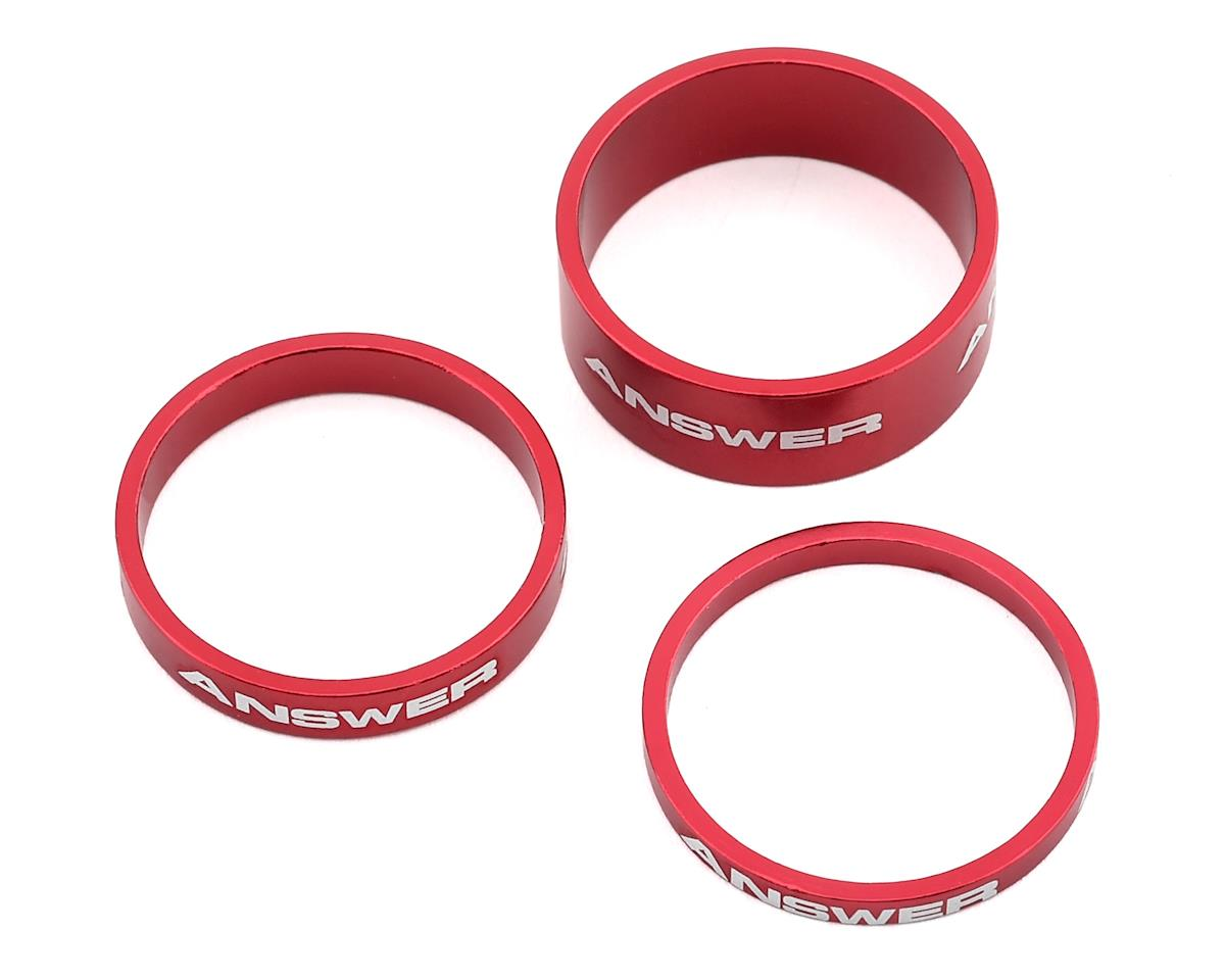 "Answer Alloy Spacer (Red) (3 Pack) (1"")"