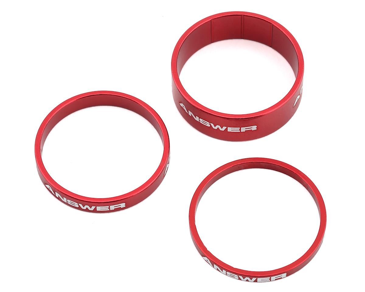 "Answer Alloy Spacer (Red) (3 Pack) (1-1/8"")"