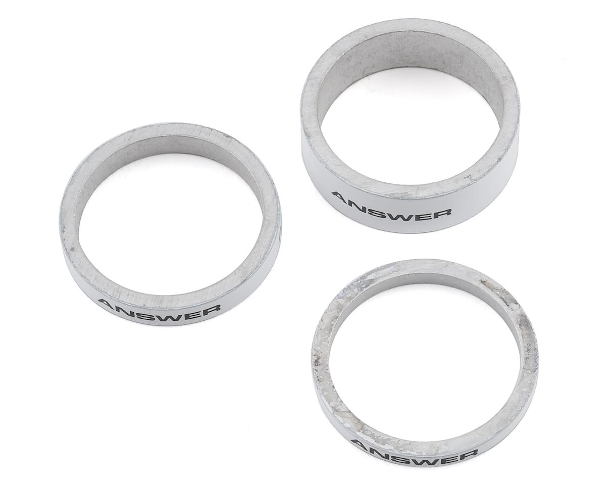 """Answer bmx carbon headset spacers Kit  1/"""" Silver"""