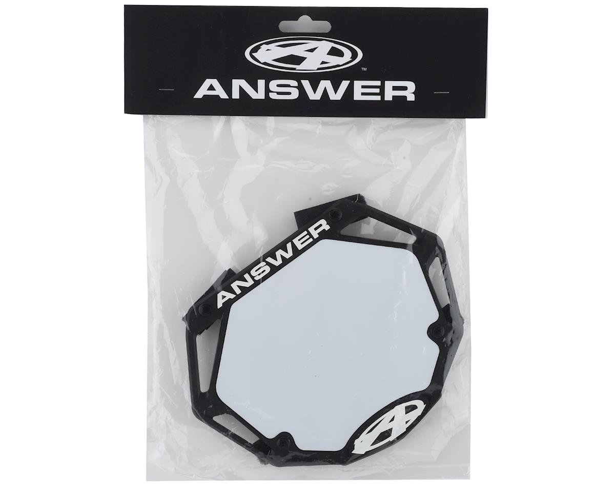 Answer 3D BMX Number Plate (Black) (Mini)