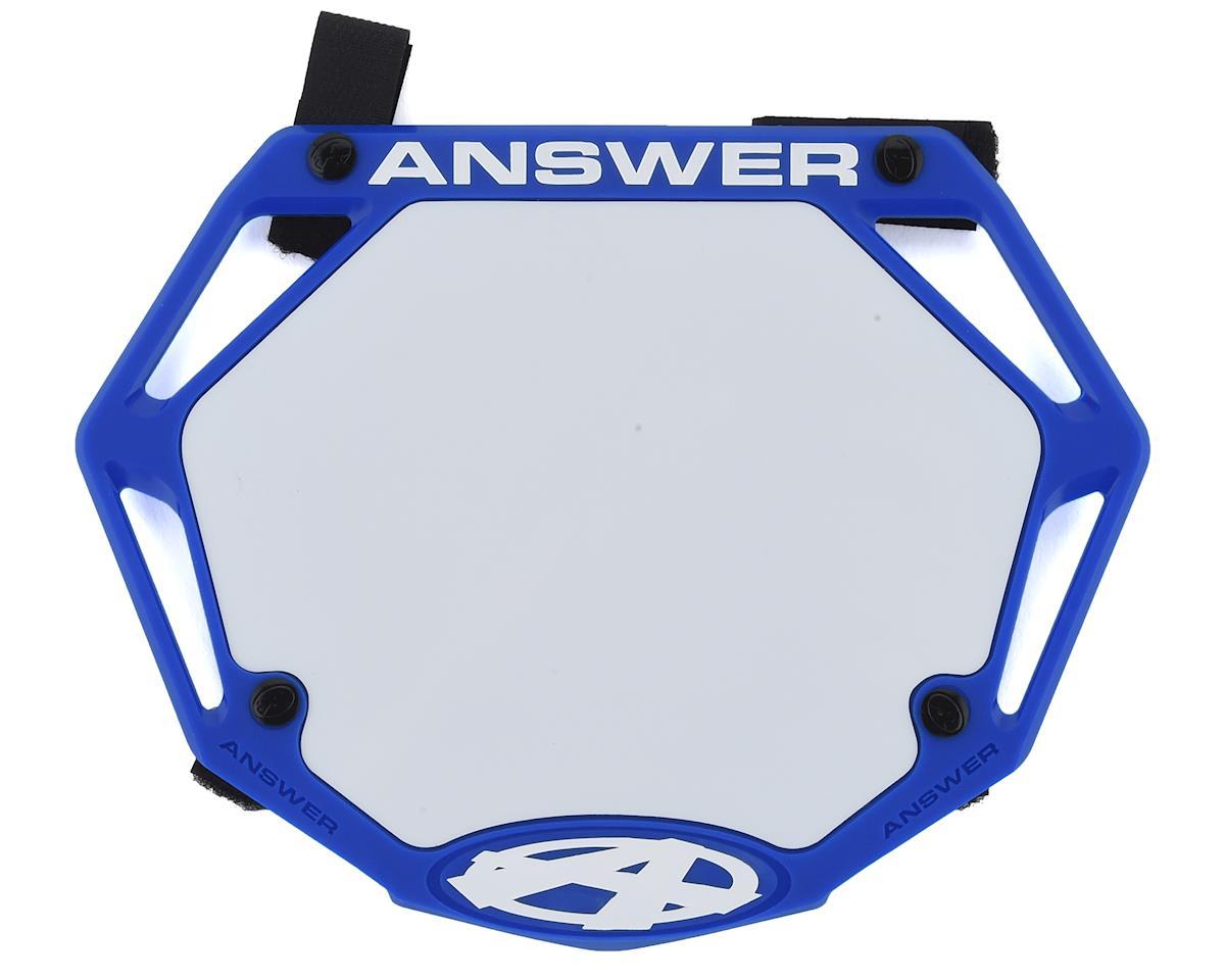 Answer 3D BMX Number Plate (Blue)