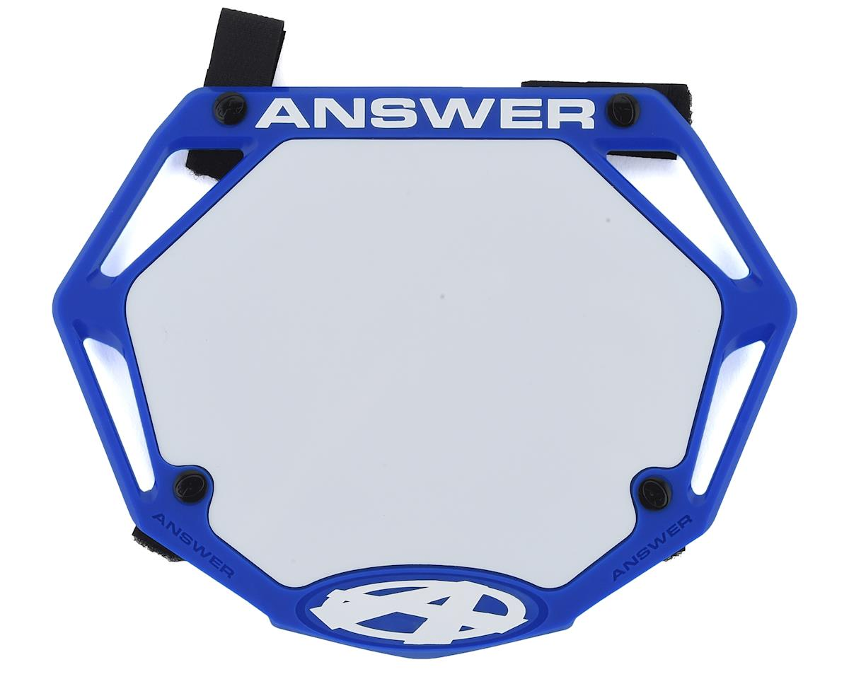 Answer 3D BMX Number Plate (Blue) (Mini)
