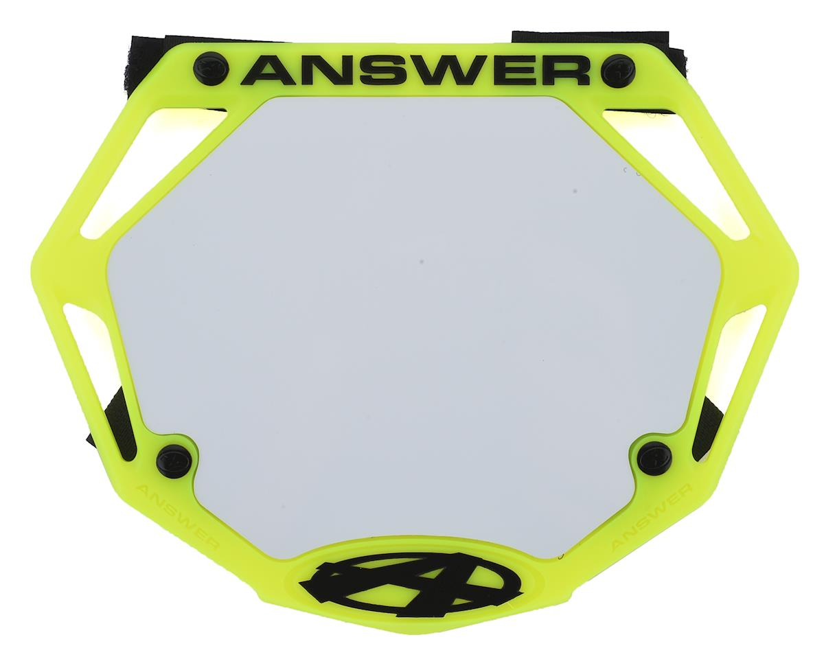Answer 3D BMX Number Plate (Flo Yellow)