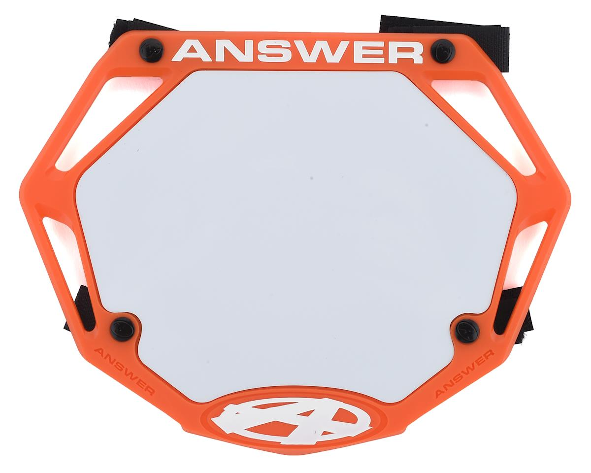 Answer 3D BMX Number Plate (Orange) (Mini)