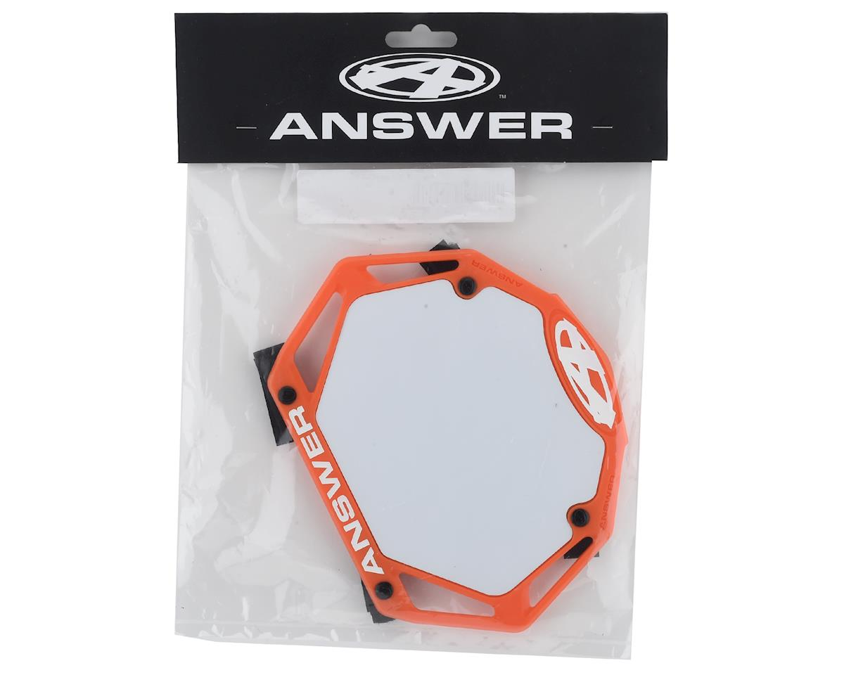 Image 2 for Answer 3D BMX Number Plate (Orange) (Mini)