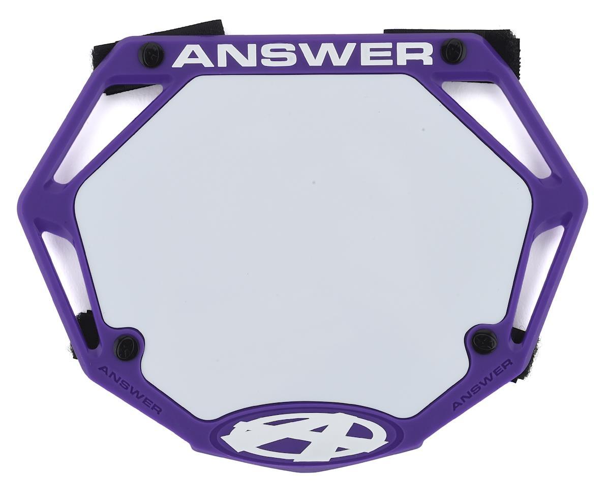 Answer 3D BMX Number Plate (Purple) (Mini)