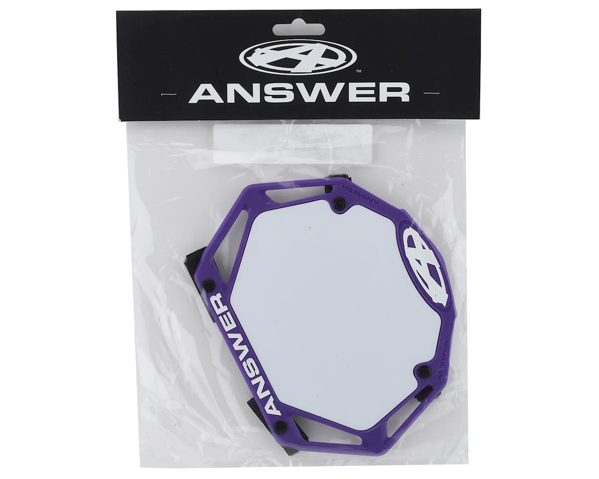 Image 2 for Answer 3D BMX Number Plate (Purple) (Mini)