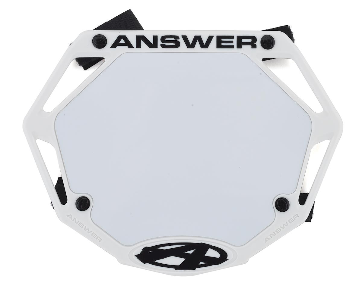 Answer 3D BMX Number Plate (White) (Mini)