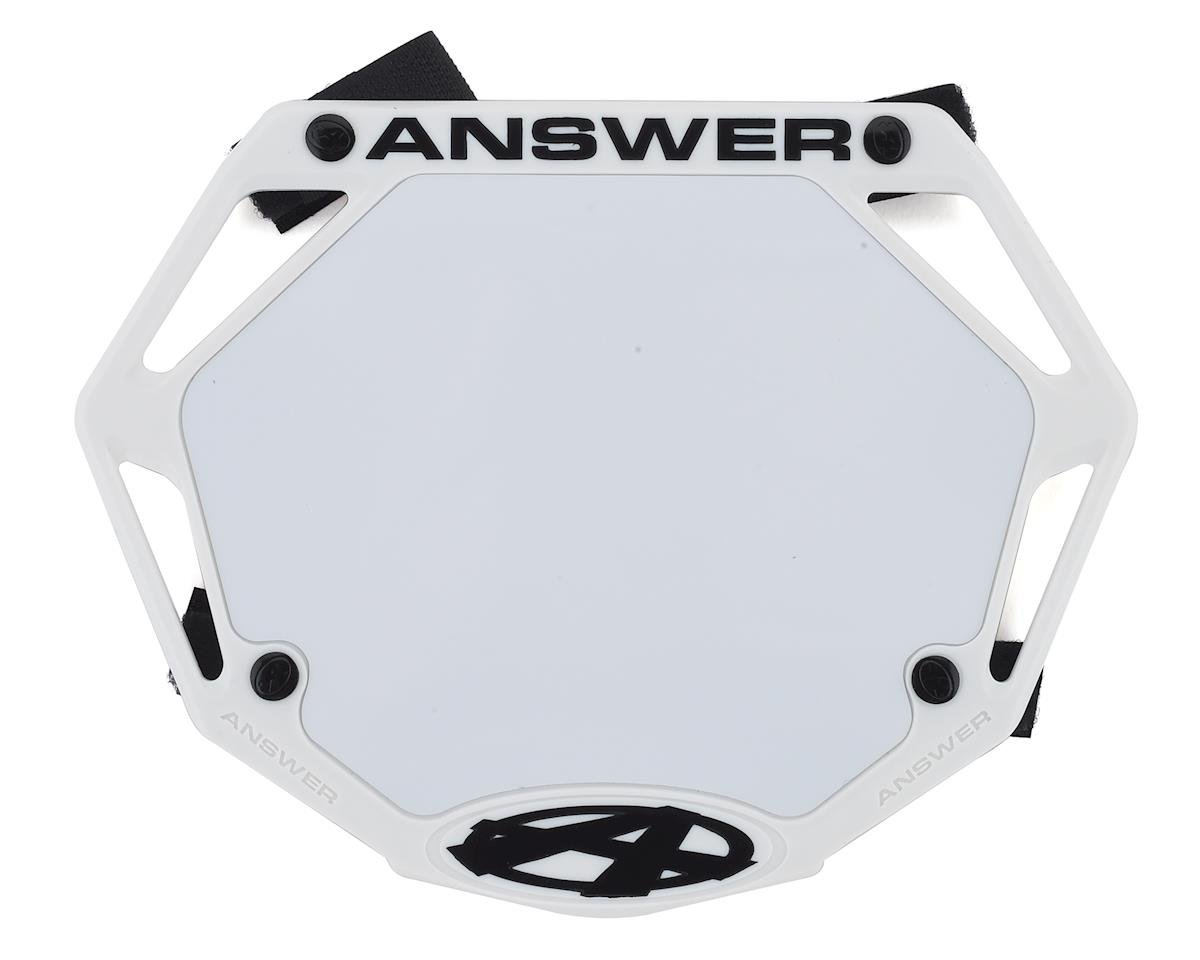 Answer 3D BMX Number Plate (White)