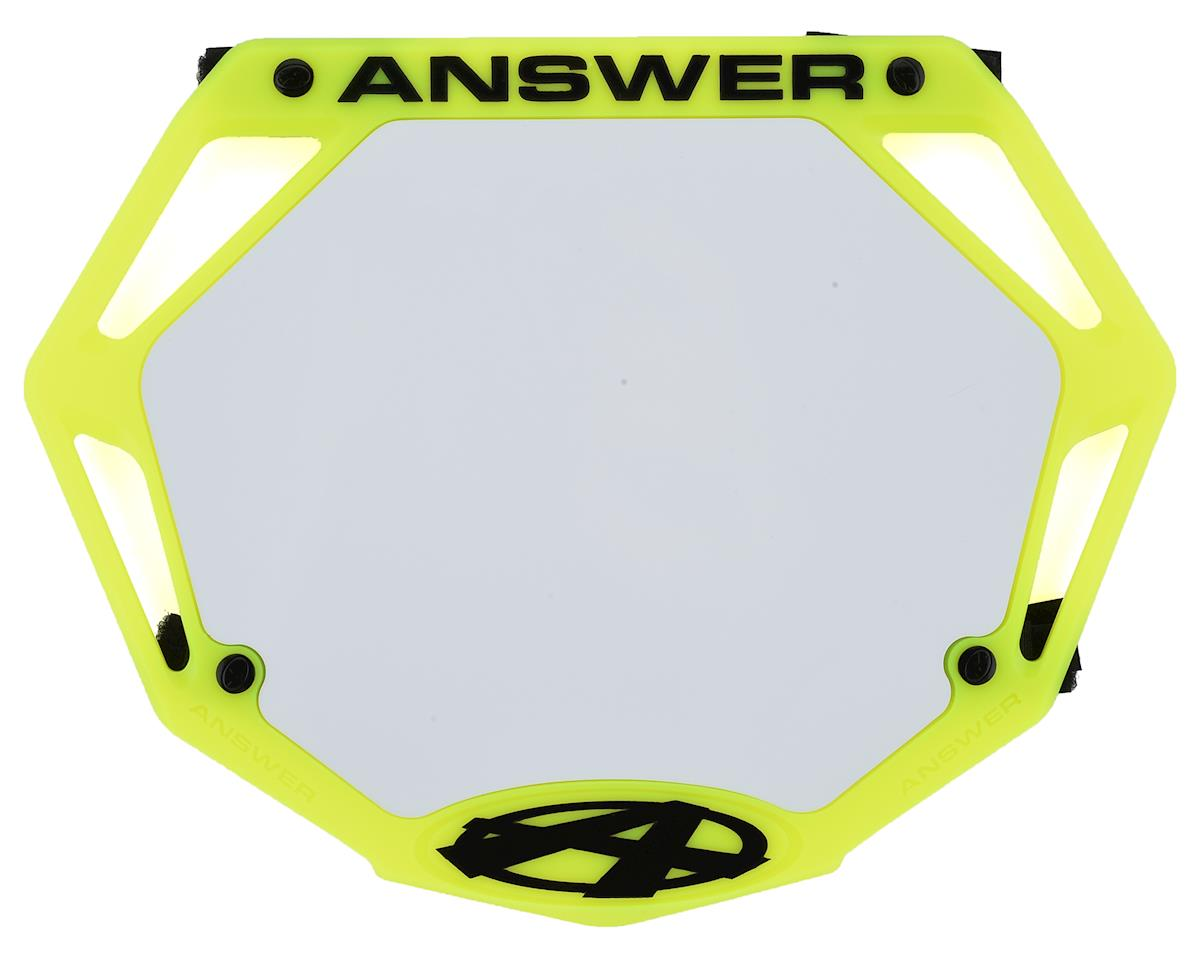 Answer 3D BMX Number Plate (Flo Yellow) (Pro)