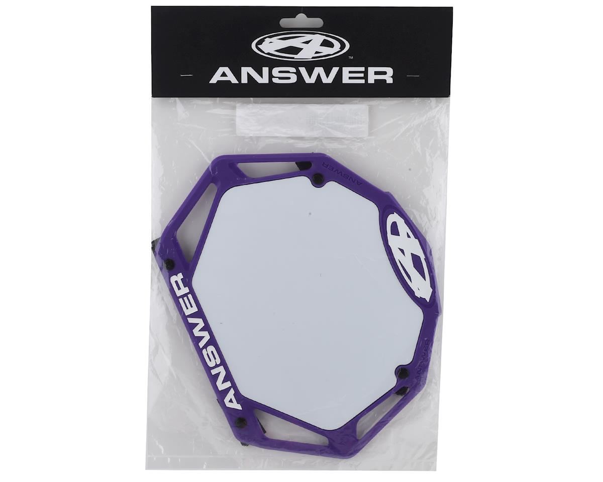 Answer 3D BMX Number Plate (Purple) (Pro)