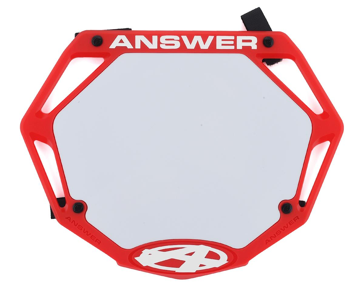 Answer 3D BMX Number Plate (Red) (Pro)
