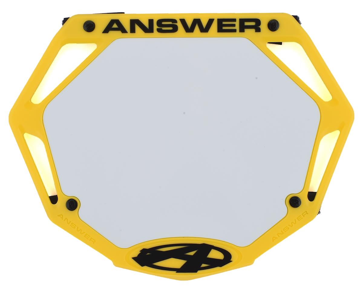 Image 1 for Answer 3D BMX Number Plate (Yellow) (Pro)
