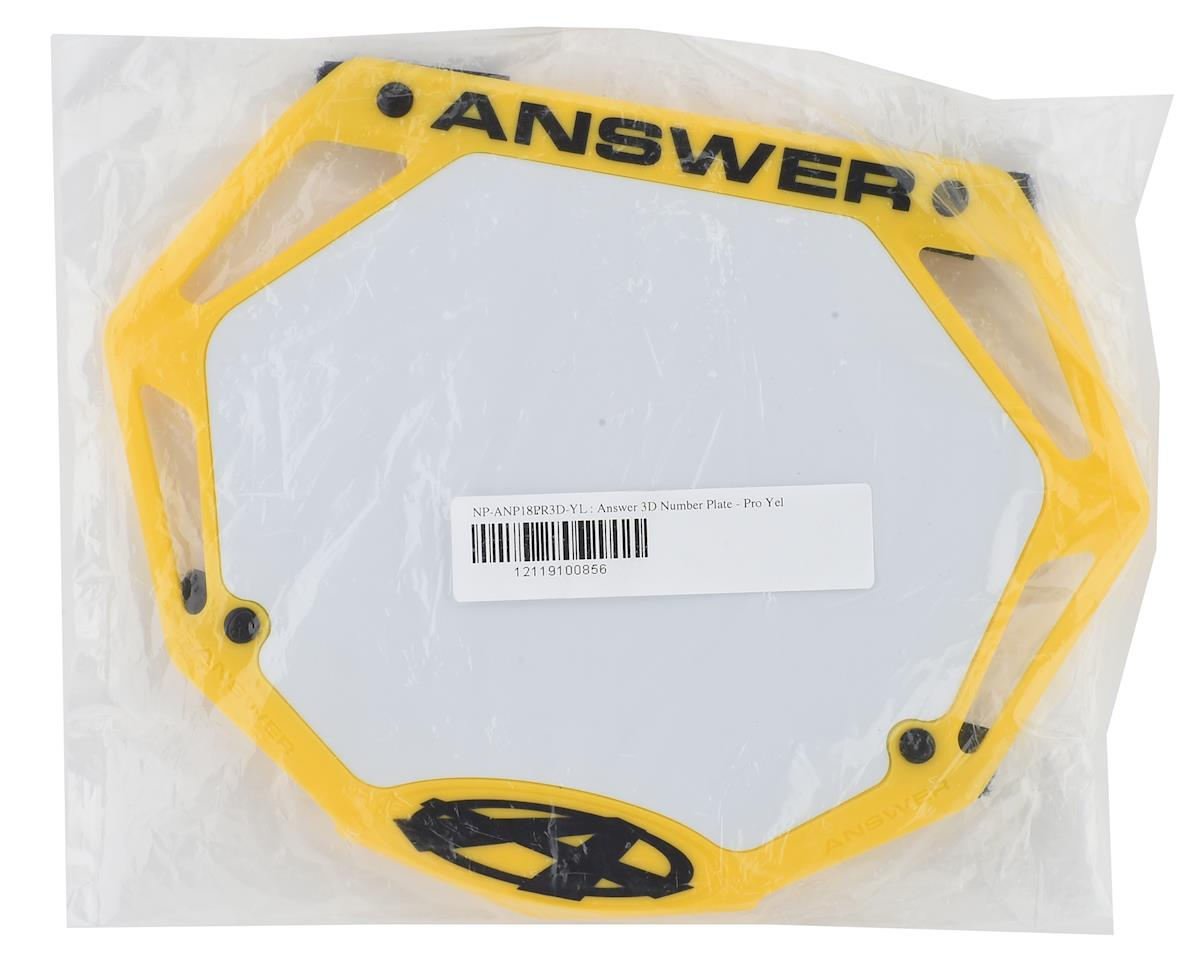 Image 2 for Answer 3D BMX Number Plate (Yellow) (Pro)
