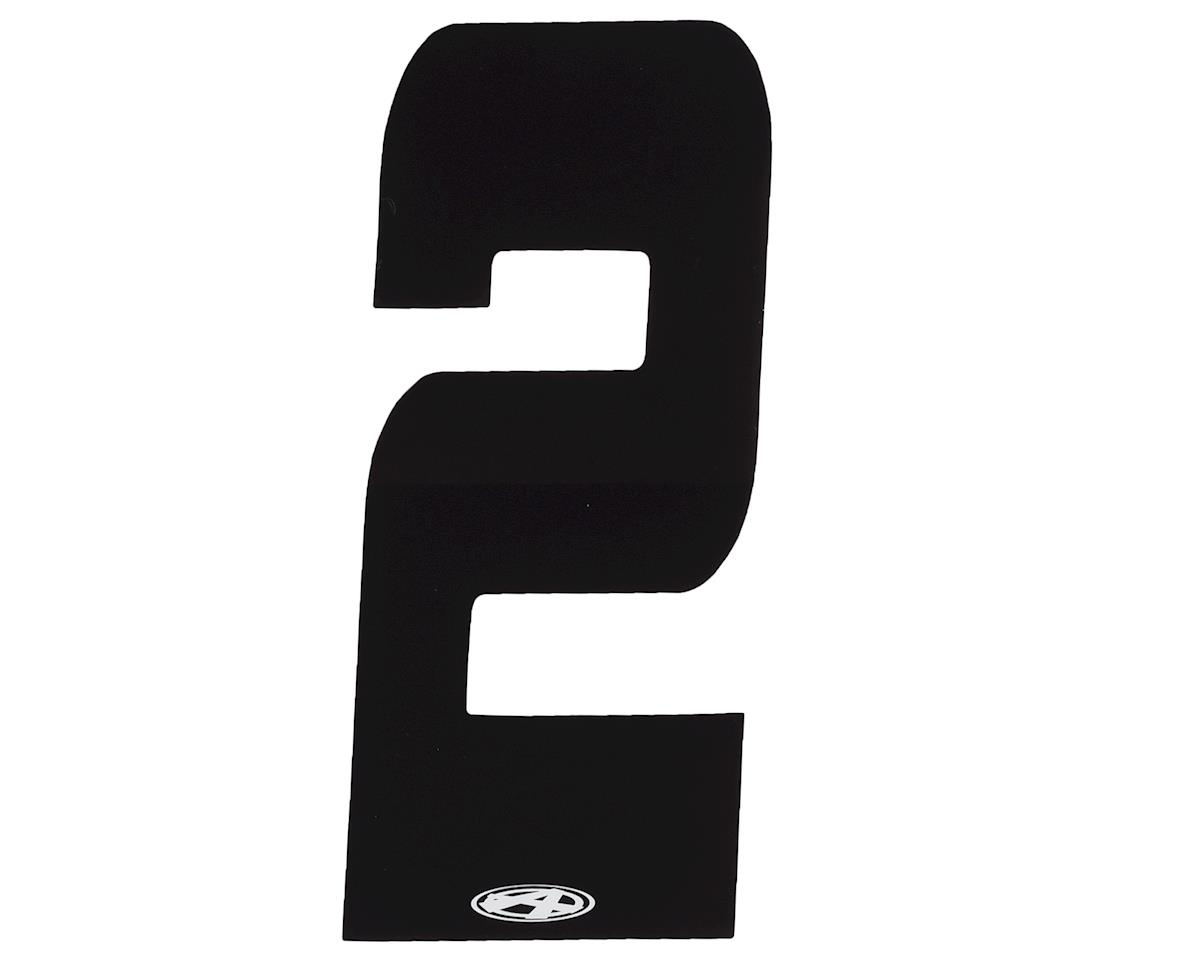 """Answer 4"""" Number Plate Stickers (Black) (2)"""