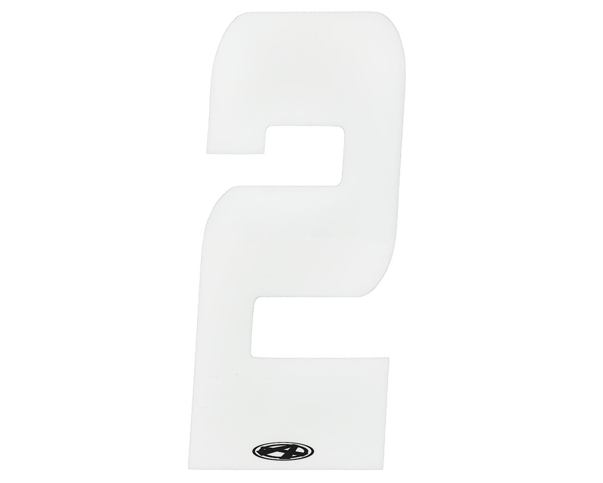 """Answer 4"""" Number Plate Stickers (White) (2)"""