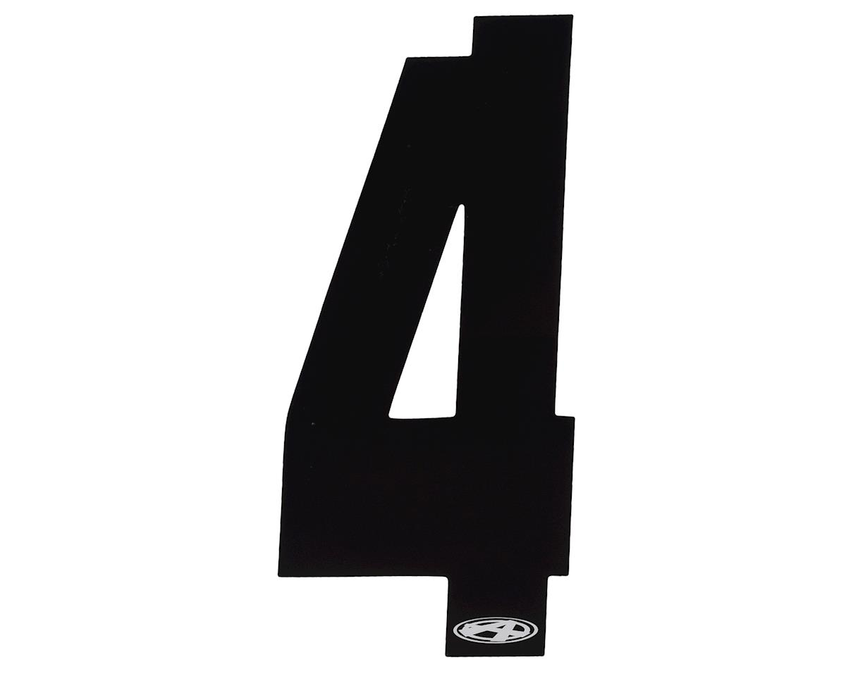 """Answer 3"""" Number Plate Stickers (Black) (4)"""