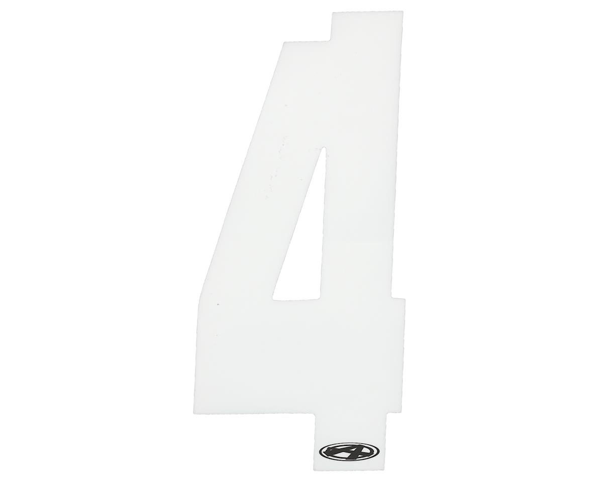 """Answer 3"""" Number Plate Stickers (White) (4)"""