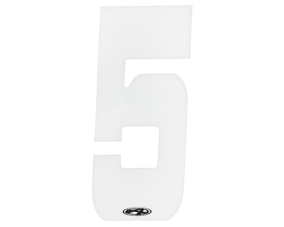 """Answer 4"""" Number Plate Stickers (White) (5)"""