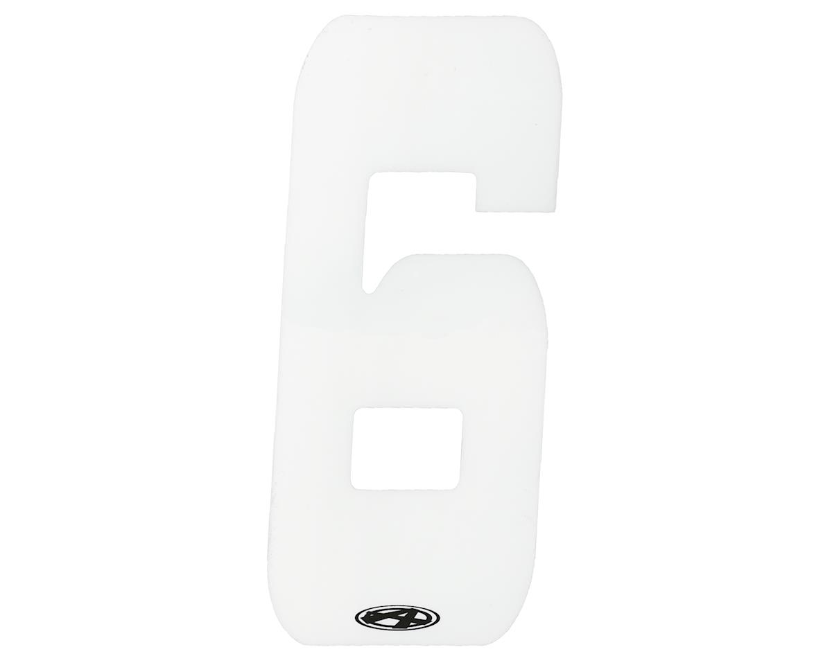 "Answer 3"" Number Plate Stickers (White) (6)"