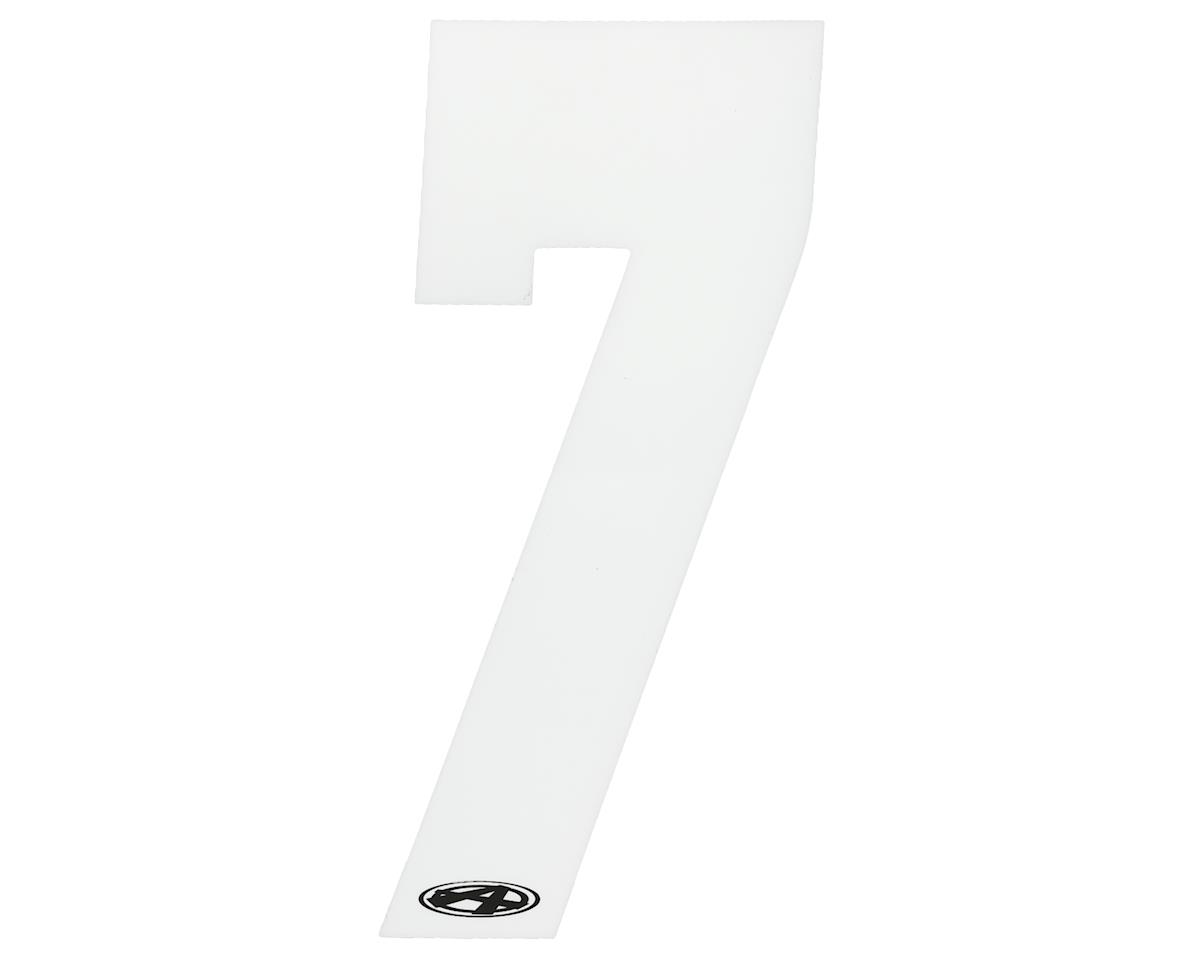 """Answer 3"""" Number Plate Stickers (White) (7)"""