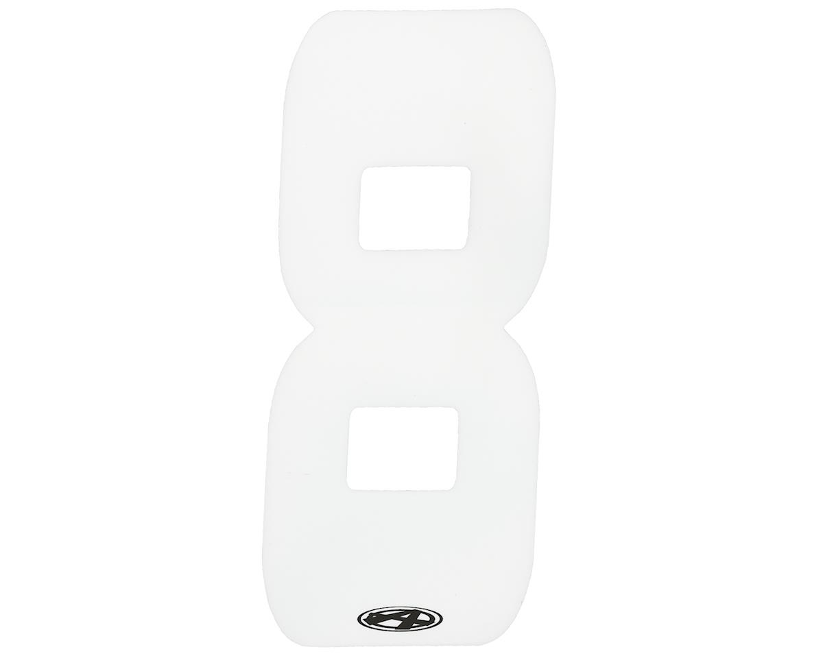 """Answer 2"""" Number Plate Stickers (White) (8)"""