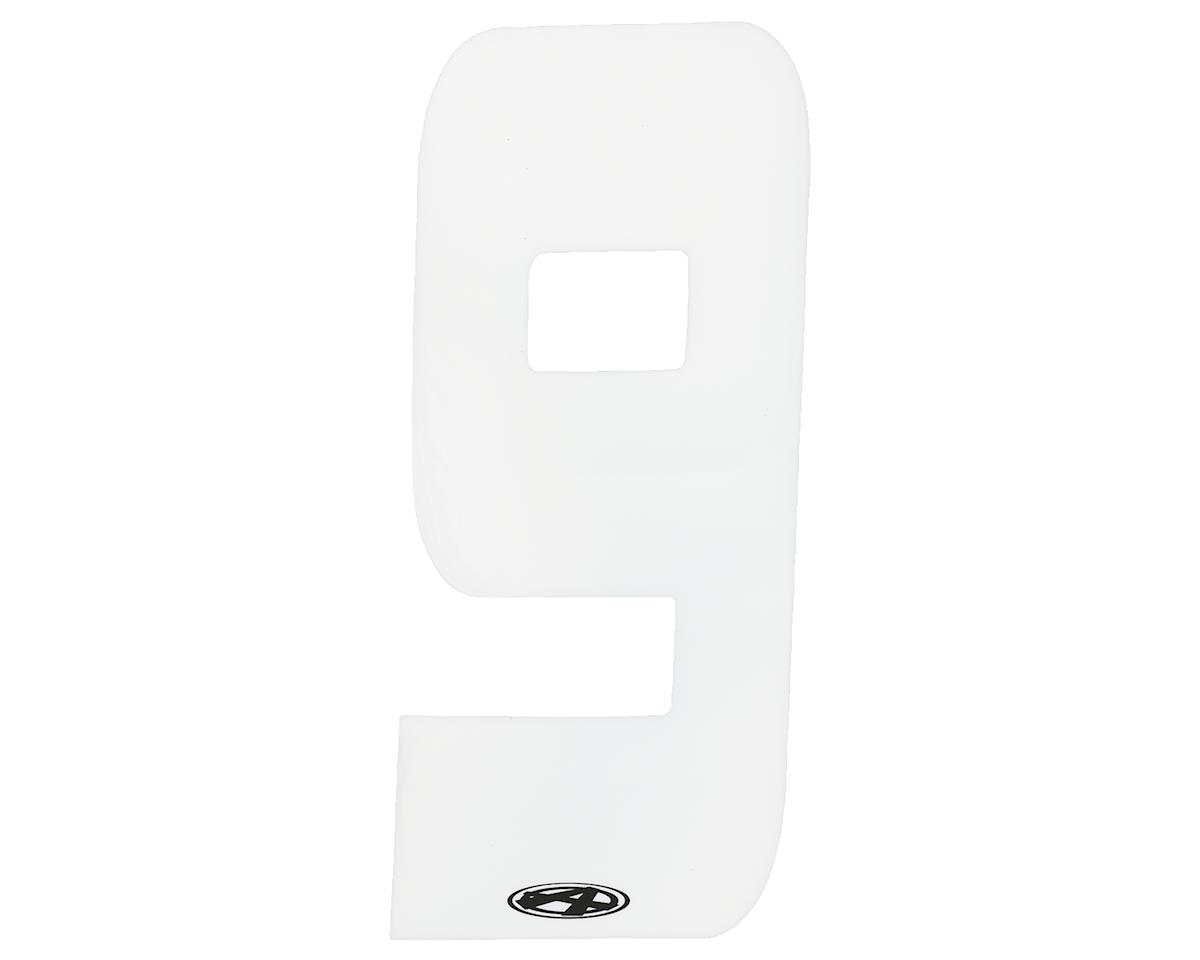 """Answer 2"""" Number Plate Stickers (White) (9)"""