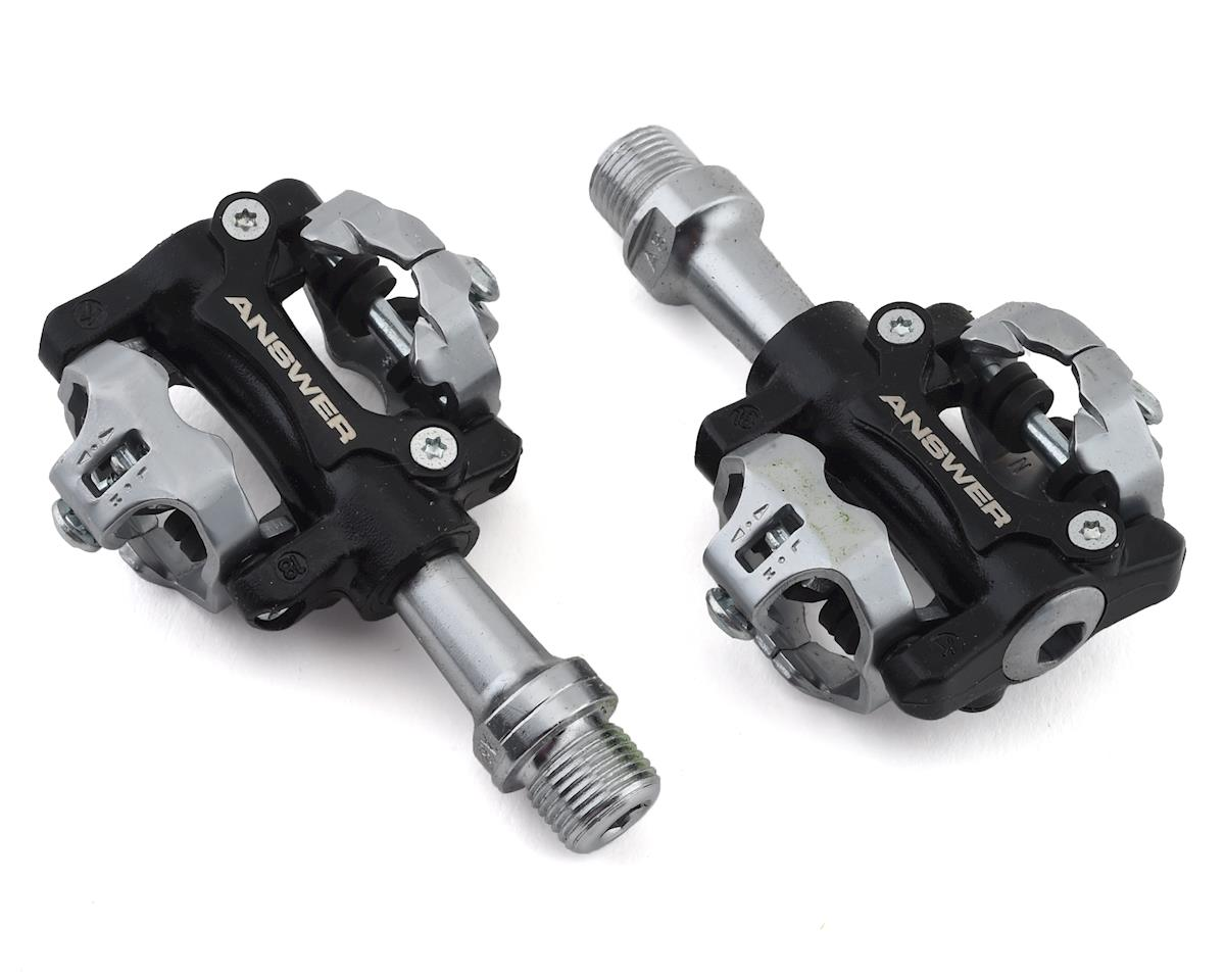 "Answer BMX Power Booster Jr. Pedals - Dual Sided Clipless, Aluminum, 9/16"", Blac"