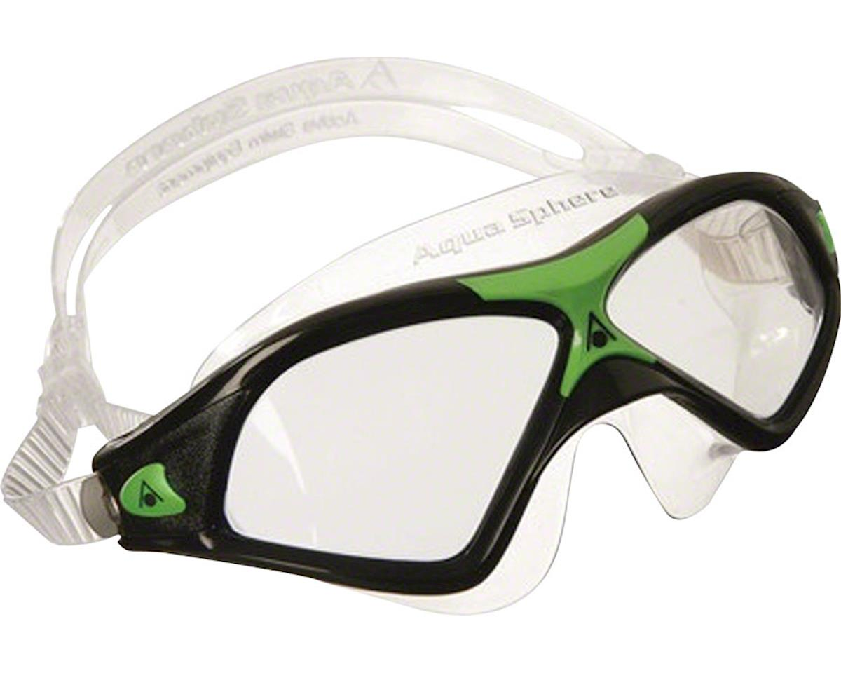 Aqua Sphere Seal XP2 Goggles: Black/Green with Clear Lens