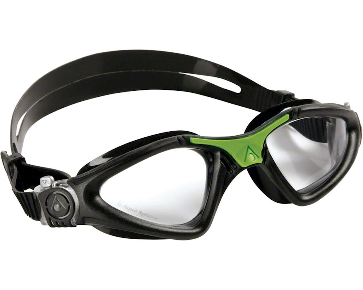 Aqua Sphere Kayenne Goggles: Black/Green with Clear Lens