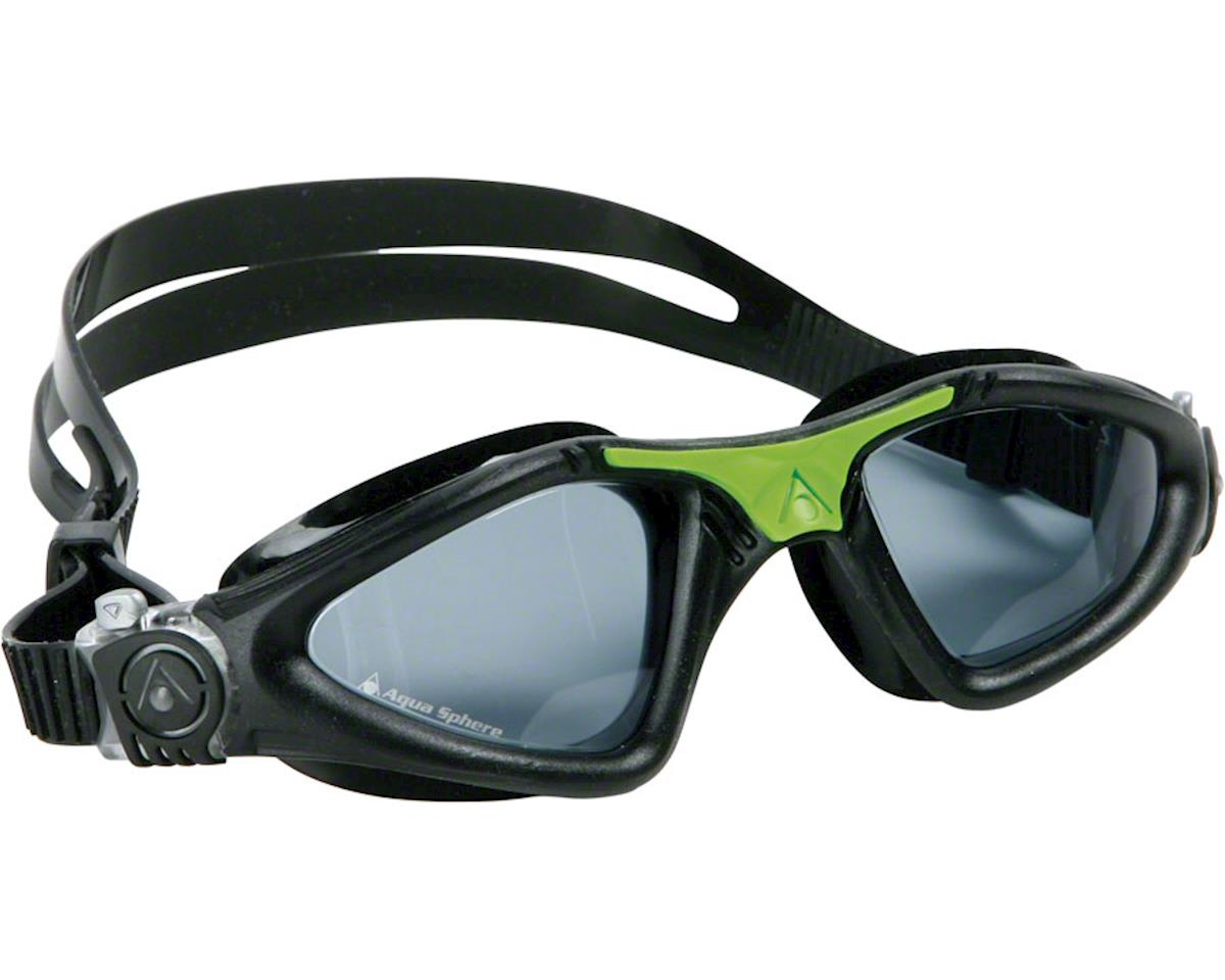Aqua Sphere Kayenne Goggles: Black/Green with Smoke Lens